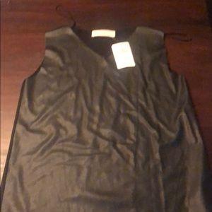 Zara faux leather & knit top